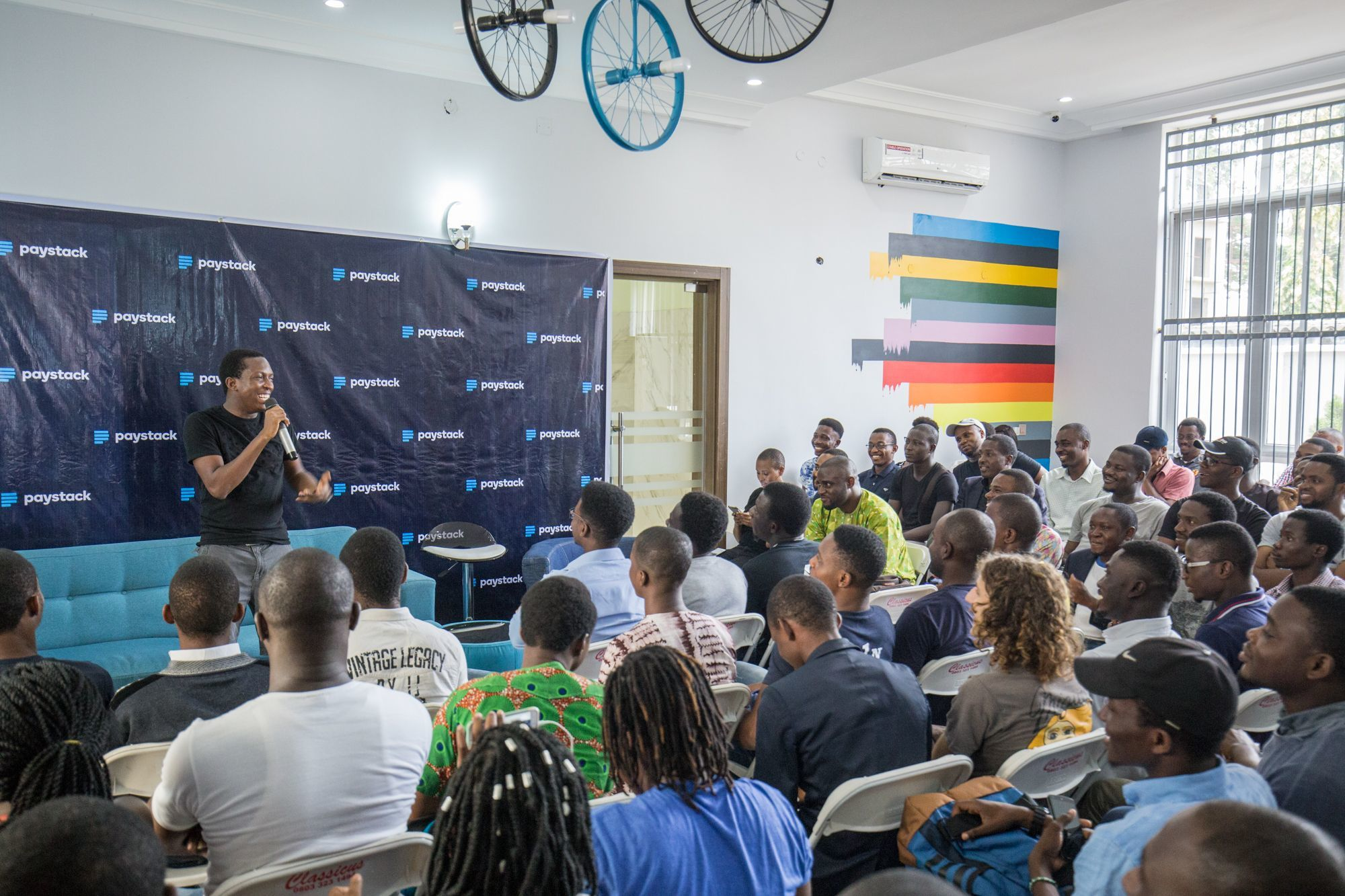 Scene at the first Y Combinator Lagos Meetup, hosted at Paystack HQ